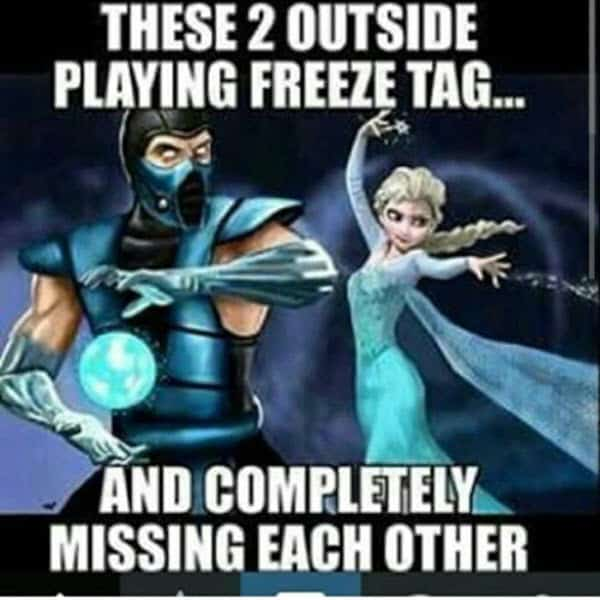 cold weather playing freeze tag meme