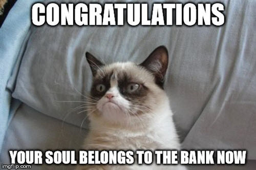 congratulations bank meme