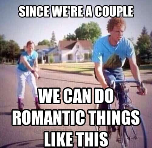 couple do romantic things memes