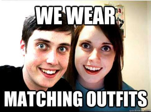 couple matching outfits memes