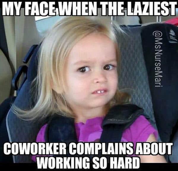 coworker laziest meme