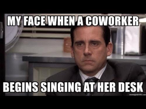 coworker singing meme