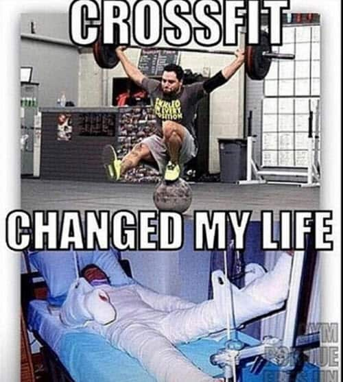 crossfit changed my life meme