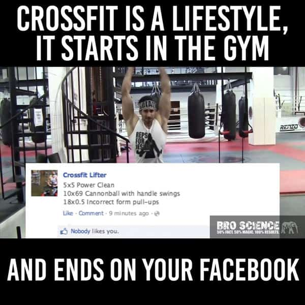crossfit lifestyle meme