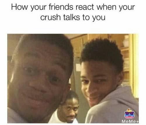 crush friends react memes