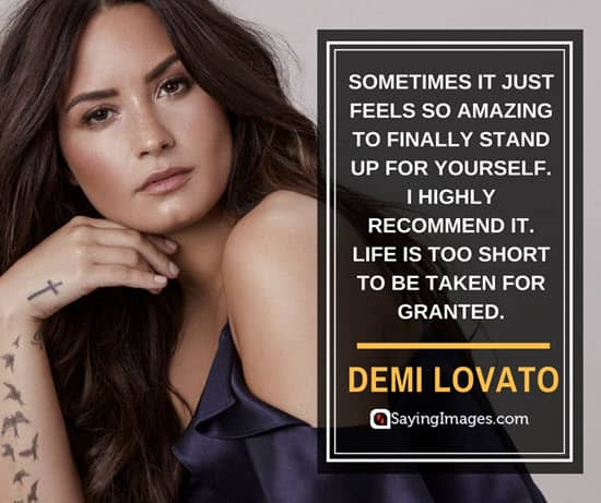 demi lovato stand up quotes