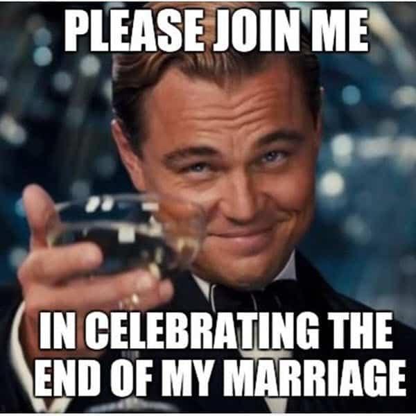 divorce celebration memes