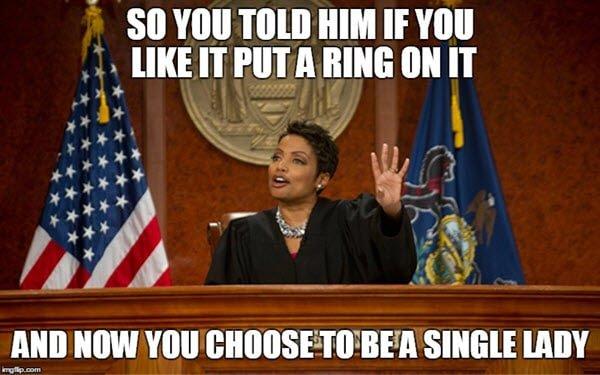 divorce put a ring on it memes