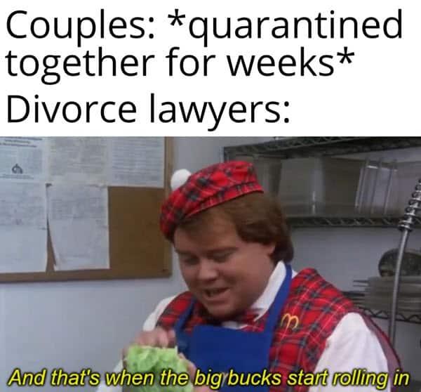 divorce quarantined together memes