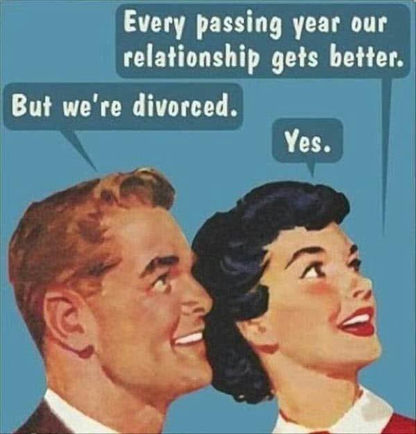 divorce relationship getting better memes