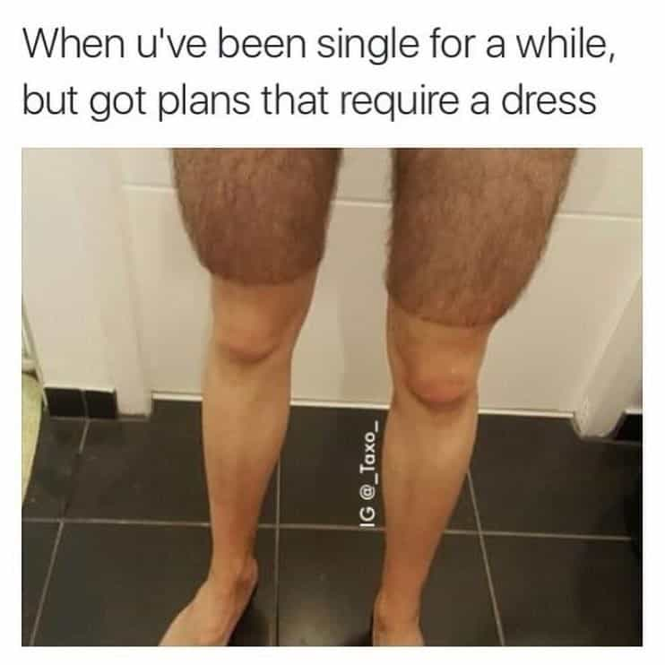 dress waxing meme