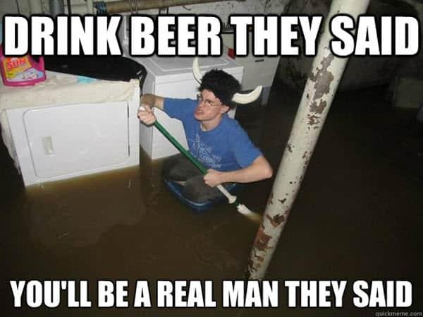 drinking beer meme
