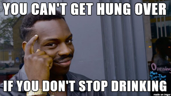 drinking hung over meme