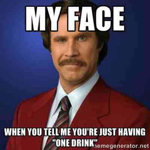 drinking my face meme