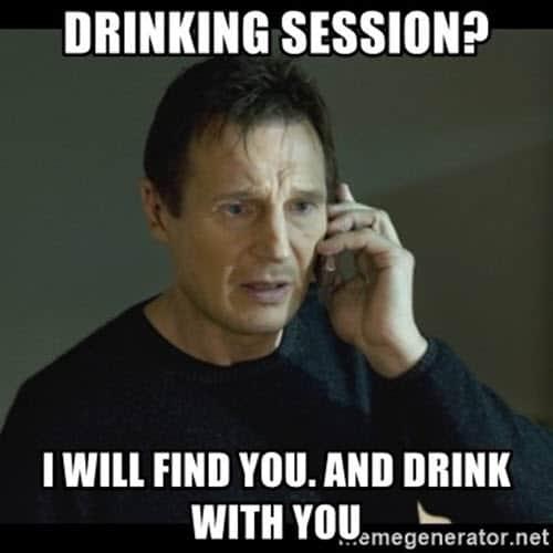 drinking session meme