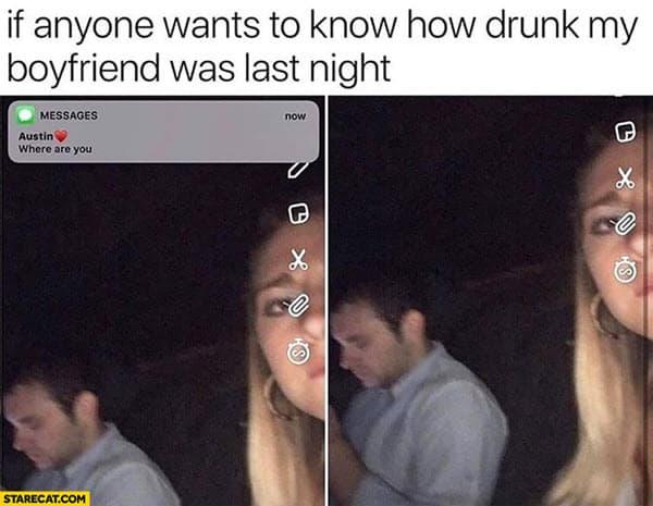 drunk boyfriend meme