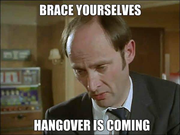 drunk hangover memes