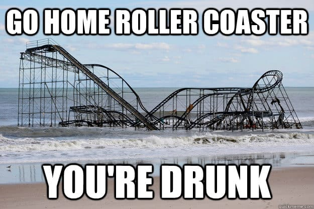 drunk rollercoaster meme