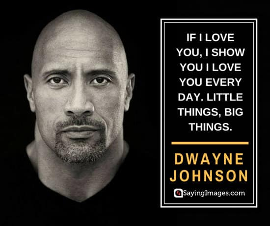 dwayne johnson little things quotes