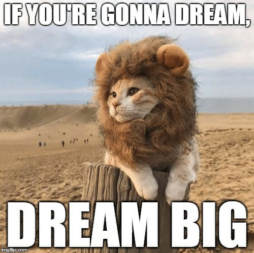 encouragement dream big meme