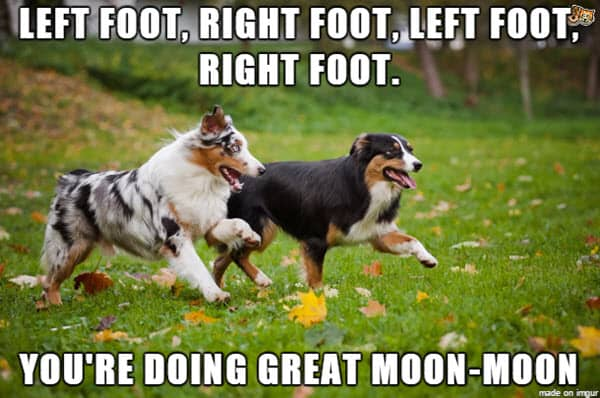 encouragement left right foot meme