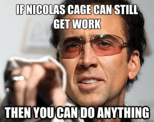 encouragement nicolas cage meme