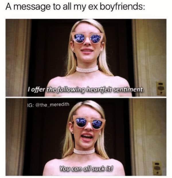 ex boyfriend message memes