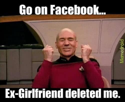 ex girlfriend facebook memes