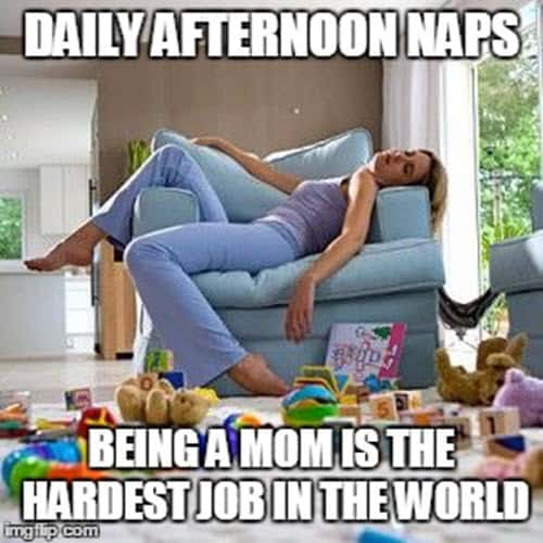 exhausted daily afternoon naps meme