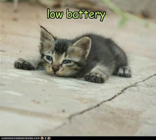exhausted low battery meme
