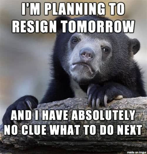 exhausted resign meme