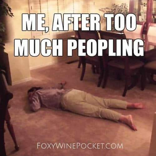 exhausted too much peopling meme
