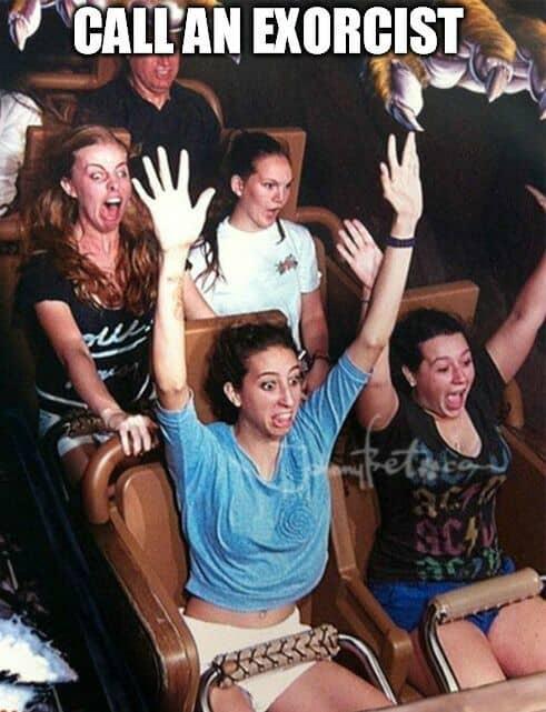 exorcist rollercoaster meme