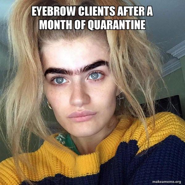 eyebrow clients meme