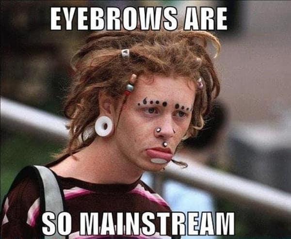 eyebrow mainstream meme