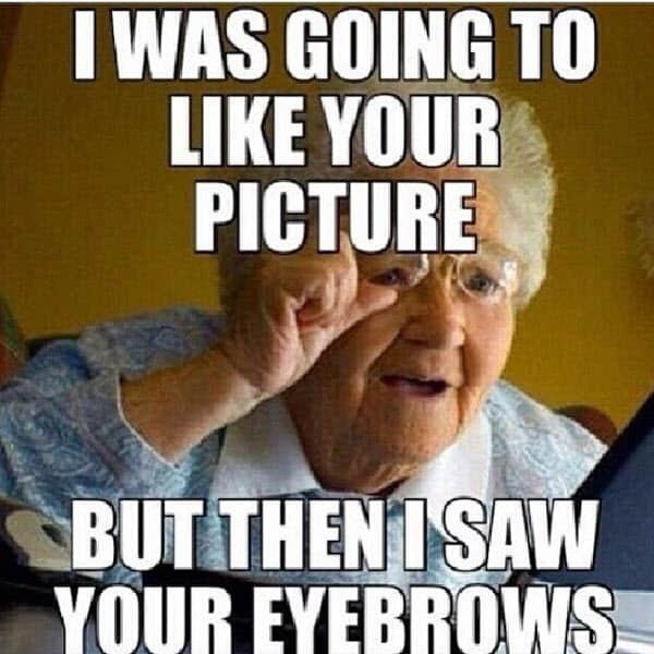 eyebrow picture meme