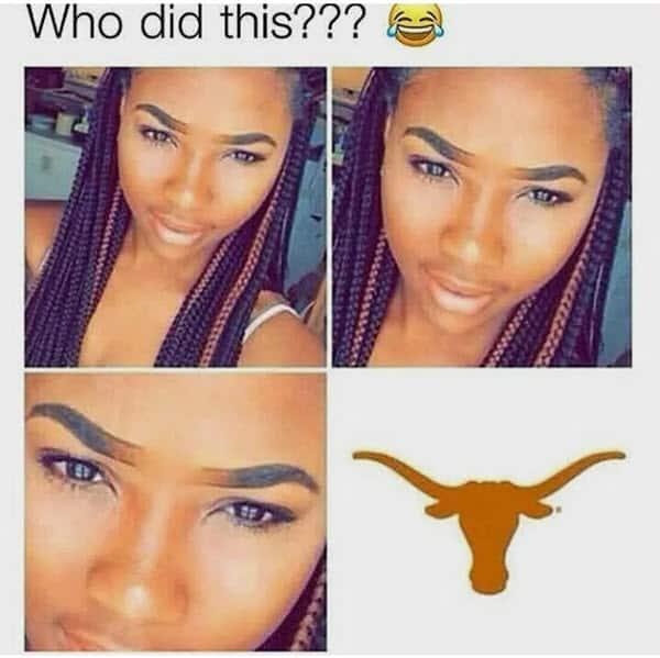 eyebrow who did this meme