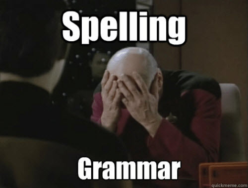 facepalm spelling grammar memes