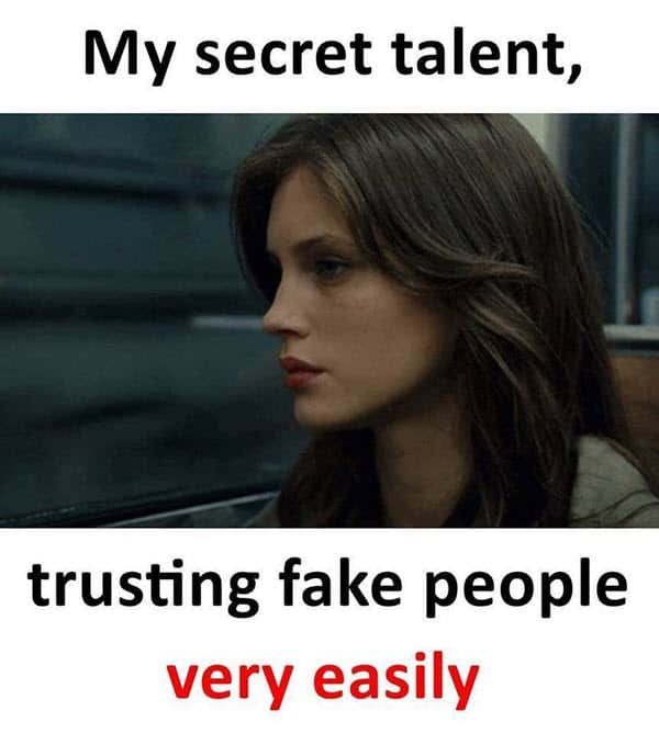 fake friends secret talent meme