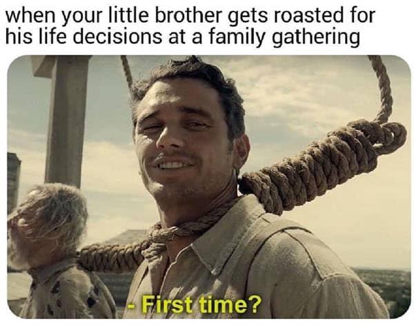 family gathering memes
