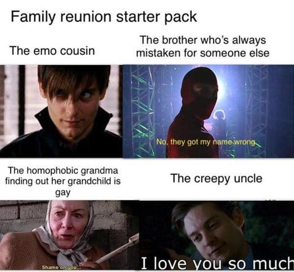 family reunion starter pack