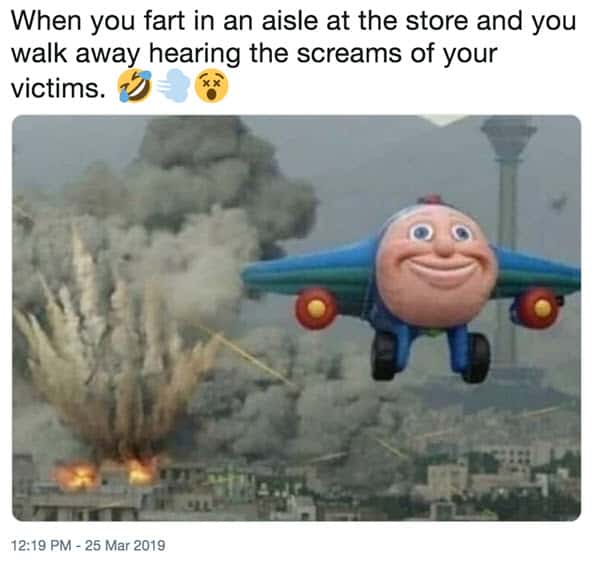 fart in an aisle at the store meme