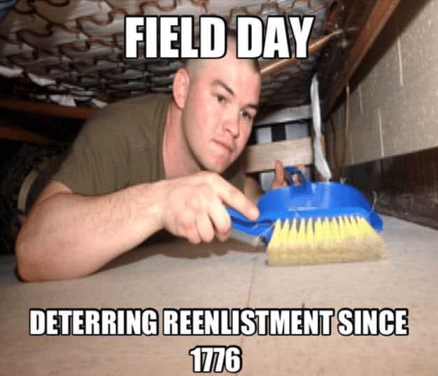 field day deterring reenlistment sine 1776 marine corps memes