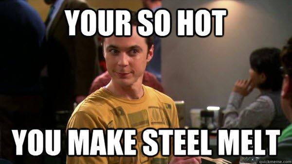 flirting youre so hot meme