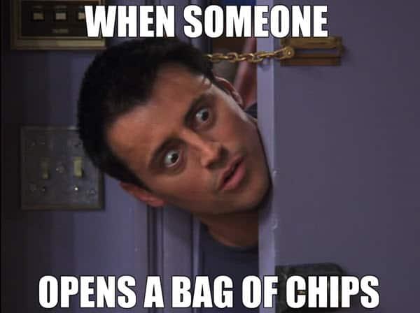 friends bag of chips meme