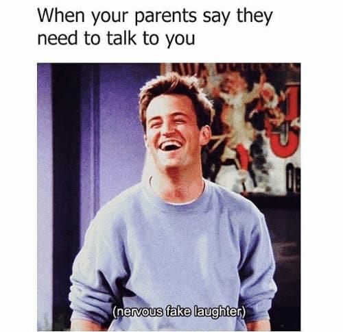 friends parents meme