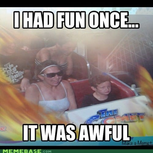 fun rollercoaster meme
