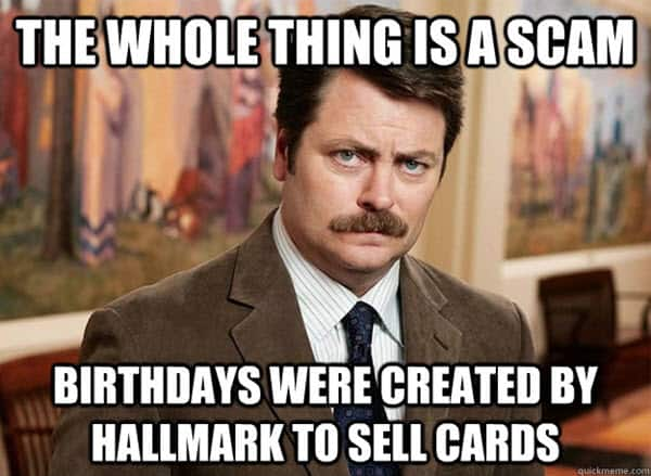 funny birthday card scams memes