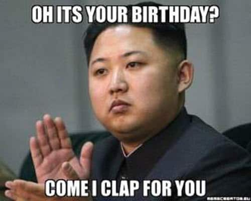 funny birthday clap for you memes