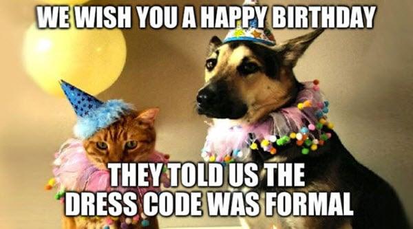 funny birthday dress code memes